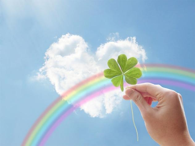 クローバー青空虹の画像